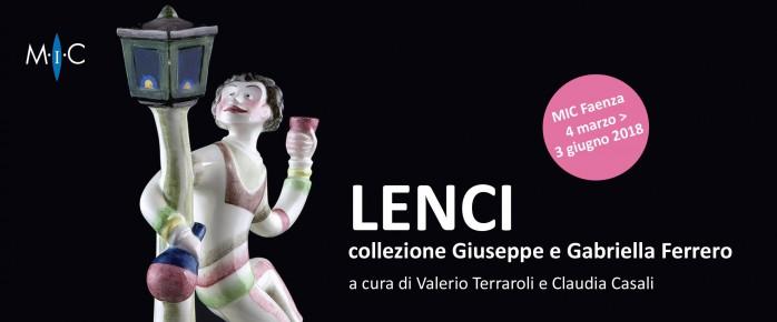 """FAENZA, MIC: """"LENCI. Collezione Giuseppe e Gabriella Ferrero""""."""