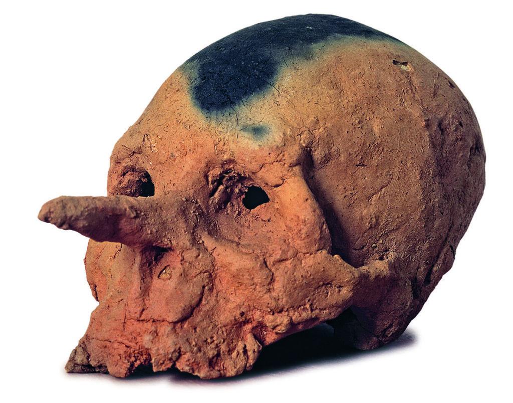 """MIQUEL BARCELO', """"Pinocchio mort"""", 1995, terracotta dogon"""