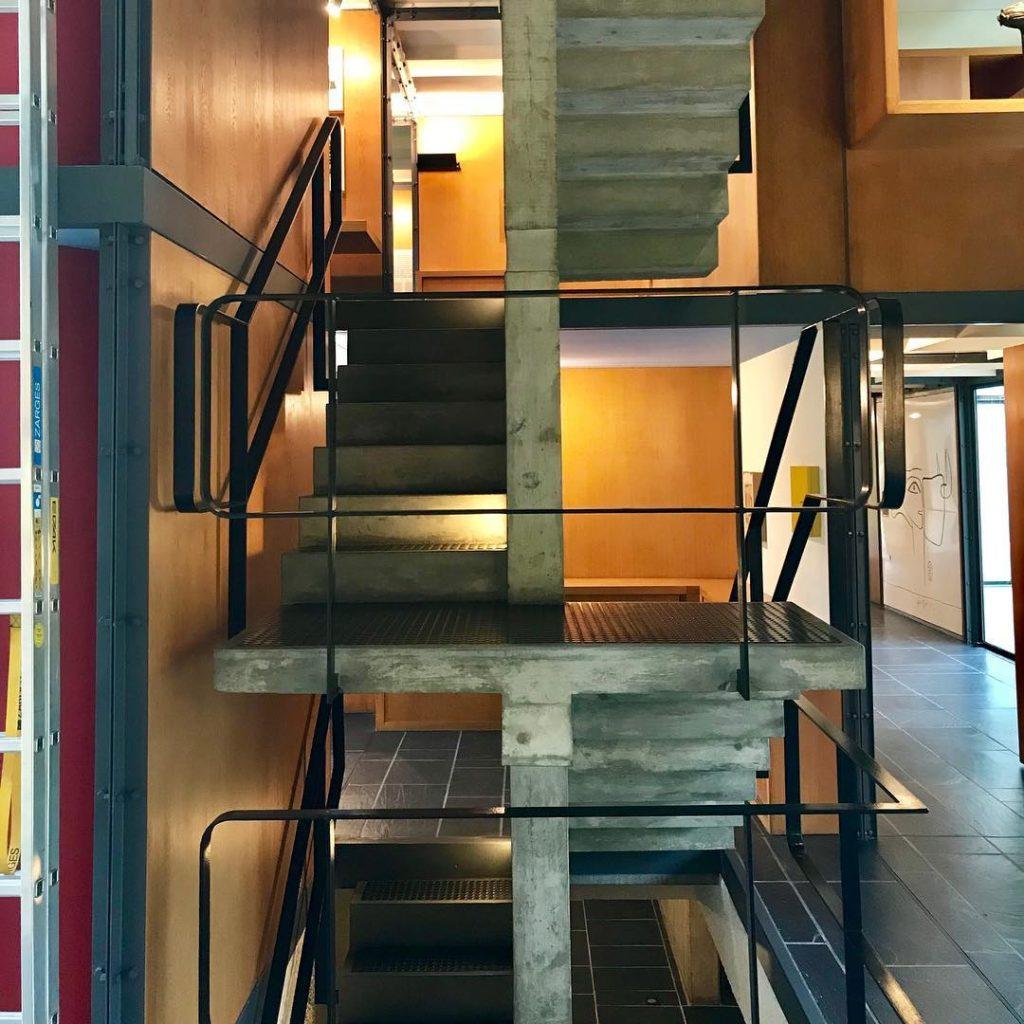 interno del padiglione Le Corbusier a Zurigo