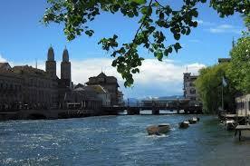 Veduta del Lago di Zurigo in Svizzera