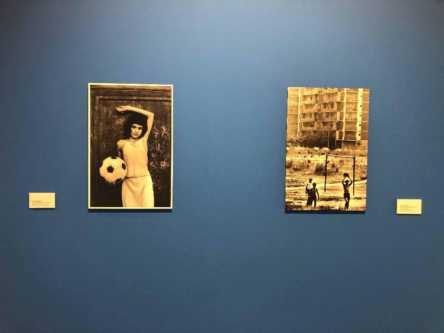 """REGGIO EMILIA, una delle sale dei Chiostri di San Domenico in cui è allestita la mostra    """"L'ARTE DEL GOL"""""""