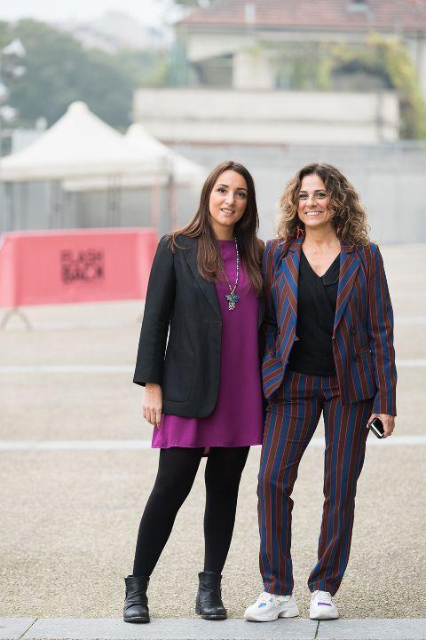 STEFANIA PODDIGHE e GINEVRA PUCCI, direttrici di FLASHBACK (foto di Giuliano Berti)