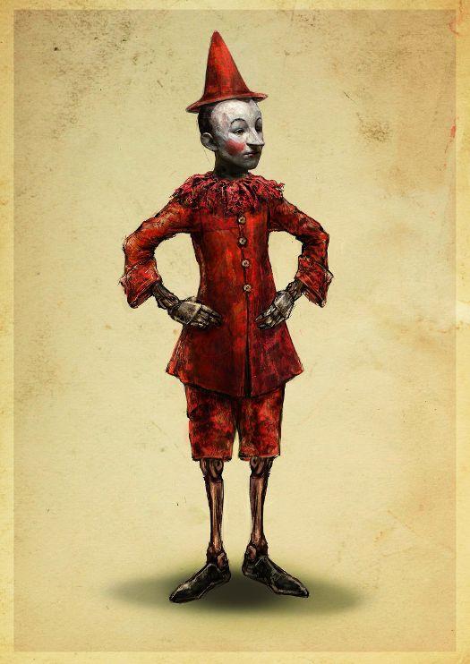 MASSIMO CANTINI PARRINI, disegno del costume di Pinocchio